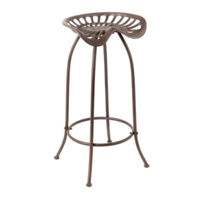 Tractor Seat Cast Iron Bar Stool
