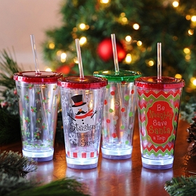 Twinkling Christmas Tumblers