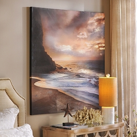 Coastal Sunset Canvas Art Print