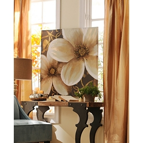 Dogwood Scroll Canvas Art Print