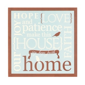 Hope, Love & Patience Wall Plaque