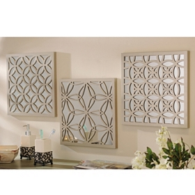 Mirrored Lattice Plaques