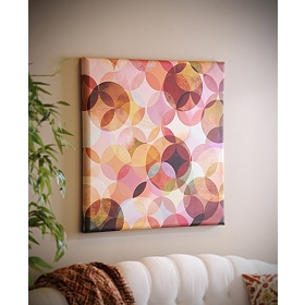 Geometric Circles Canvas Art Print