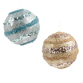 Sequin Stripe Ornament