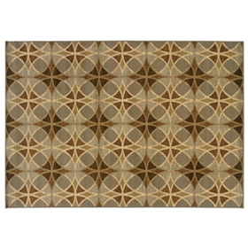 Darcy Neutral Circles Area Rug, 8x10