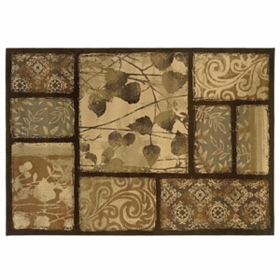Darcy Brown Patch Area Rug, 8x10