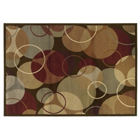 Campbell Overlapping Circles Area Rug, 5x7