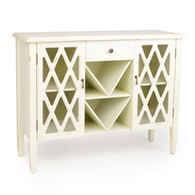 Beckley Ivory Wood Cabinet