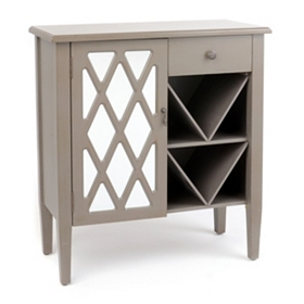 Amelia Mirrored Gray Cabinet