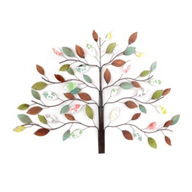 Colorful Tree Metal Wall Plaque