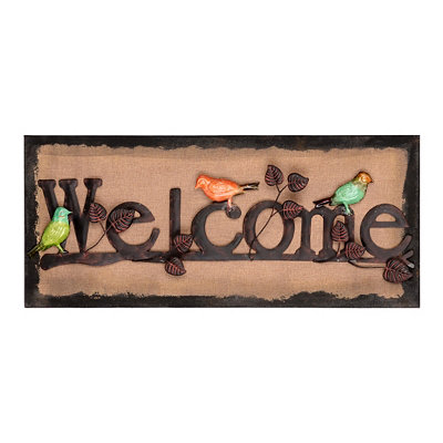 Welcome Wall Plaque
