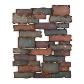 Brick by Brick Metal Wall Plaque