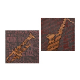 All That Jazz Wall Plaque, Set of 2