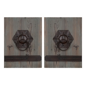 Door Knocker Wall Plaque, Set of 2