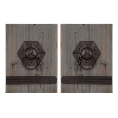 Door Knocker Wall Plaque, Set of 2