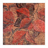 Red Metallic Leaves Canvas Art Print