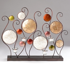 Metallic Circle 4-Candle Votive Runner
