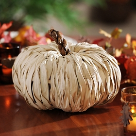 Natural Rattan Pumpkin, 13 in.