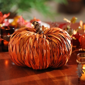 Orange Rattan Pumpkin, 11 in.