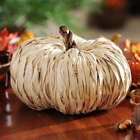 Natural Rattan Pumpkin, 11 in.