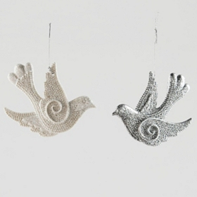 Sparkling Dove Ornament
