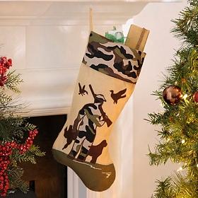 Camouflage Bird Hunting Christmas Stocking
