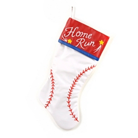 Home Run Baseball Christmas Stocking