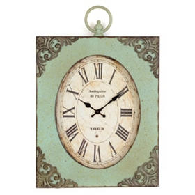Antiqued Mariam Wall Clock