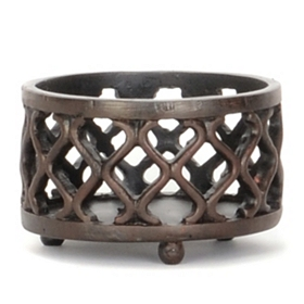 Bronze Lattice Jar Candle Holder