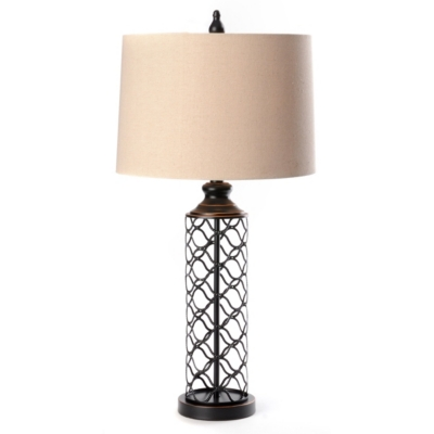 Woven Wire Cylinder Table Lamp