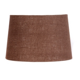 Chocolate Burlap Hardback Shade