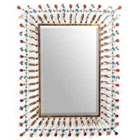 Jeweled Color Burst Wall Mirror, 25x33