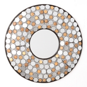 Jeweled Doll Wall Mirror, 20x20