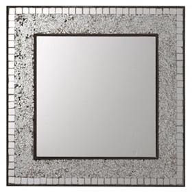 Silver Linings Mosaic Mirror, 24x24