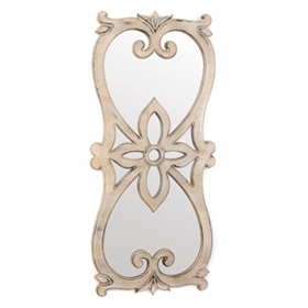 Hour Glass Wall Mirror, 21x45