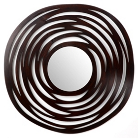 Spinner Wooden Wall Mirror, 36x36