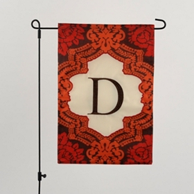 Fall Fun Monogram Garden Flag