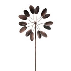 Bronze Windmill Spinner Garden Stake