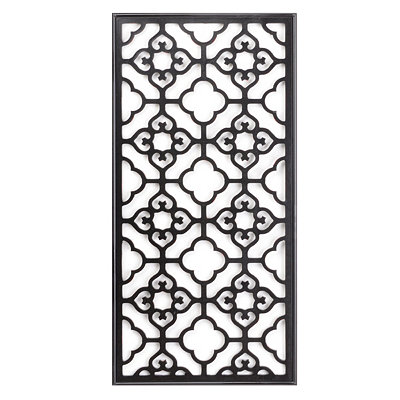Black Geo Rectangle Wall Plaque
