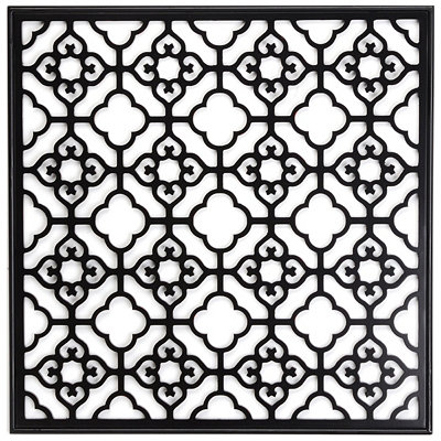 Black Geo Square Wall Plaque