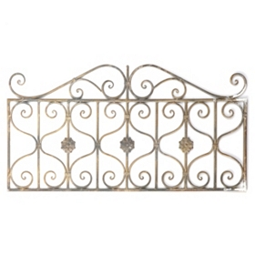 Scrolled Gate Metal Wall Art