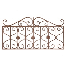 Scrolled Gate Bronze Wall Plaque