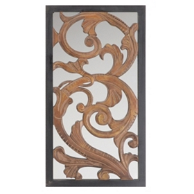 Abstract Mirrored Wall Plaque