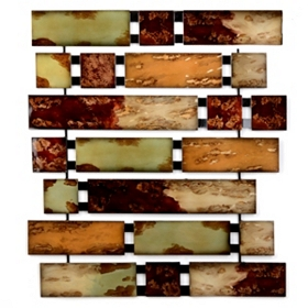 Abstract Bricks Metal Wall Art
