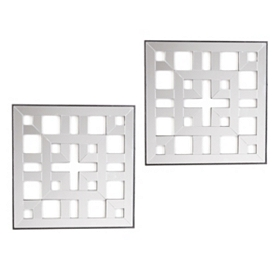 Square Duo Wall Plaque, Set of 2