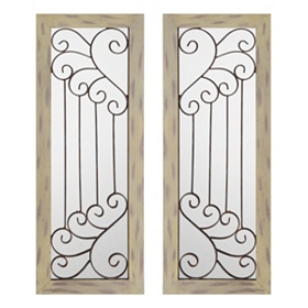 Mirrored Wing Panels, Set of 2