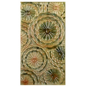 Flora Circles I Wall Plaque