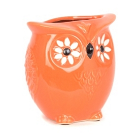 Hawaiian Passion Flower Owl Vase