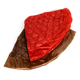 Red & Bronze Pin Tuck Tree Skirts