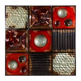 Spice Orbit Metal Wall Plaque